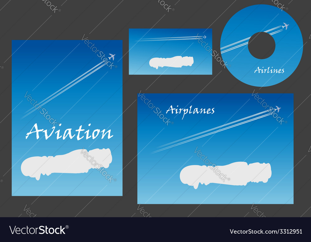 Aviation marketing elements vector | Price: 1 Credit (USD $1)