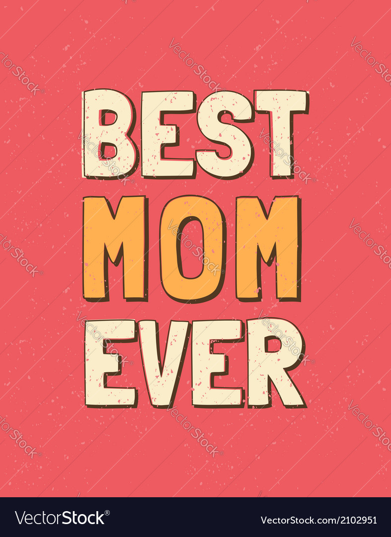 Colorful mothers day retro greeting card design vector | Price: 1 Credit (USD $1)