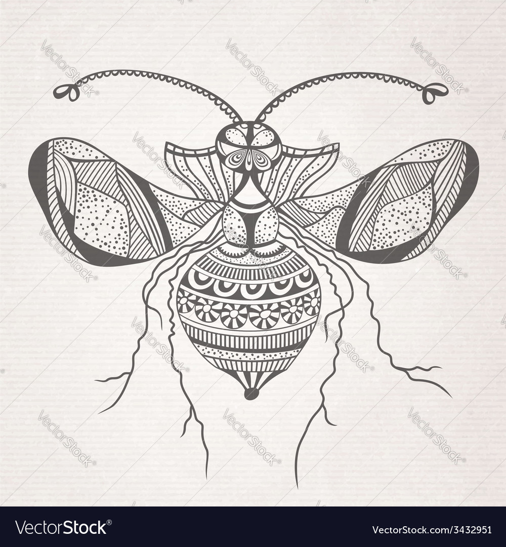 Decorative insect butterfly vector | Price: 1 Credit (USD $1)