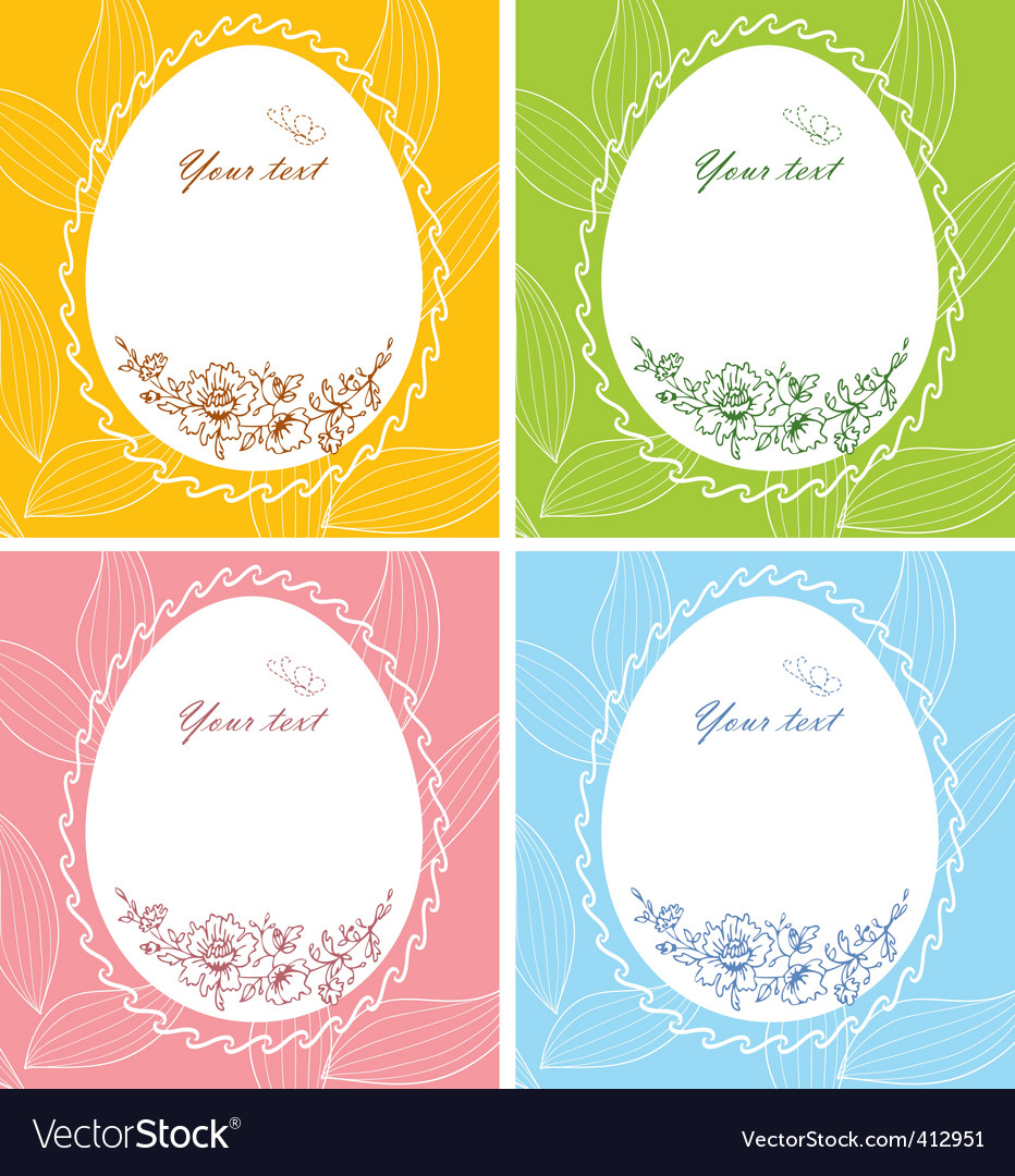 Egg floral banners vector | Price: 1 Credit (USD $1)