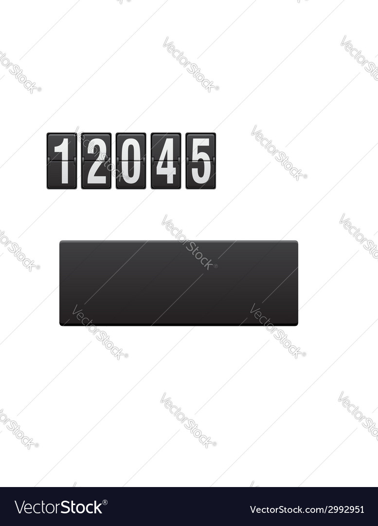 Electronic scoreboard old and the new year vector | Price: 1 Credit (USD $1)