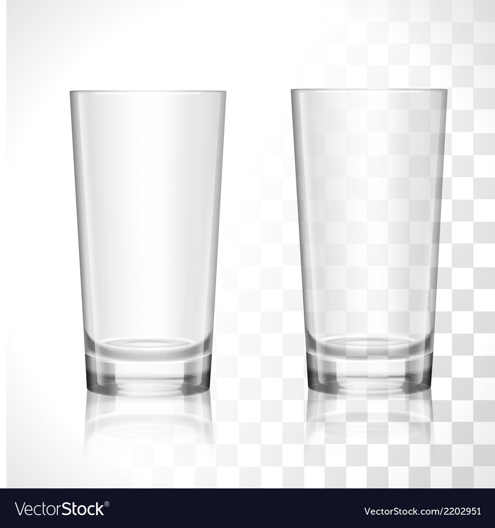Empty glasses set vector | Price: 1 Credit (USD $1)