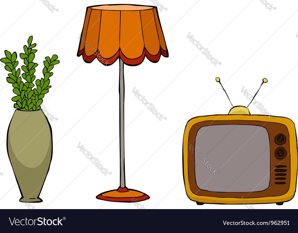 Furniture postmodernism vector | Price: 1 Credit (USD $1)