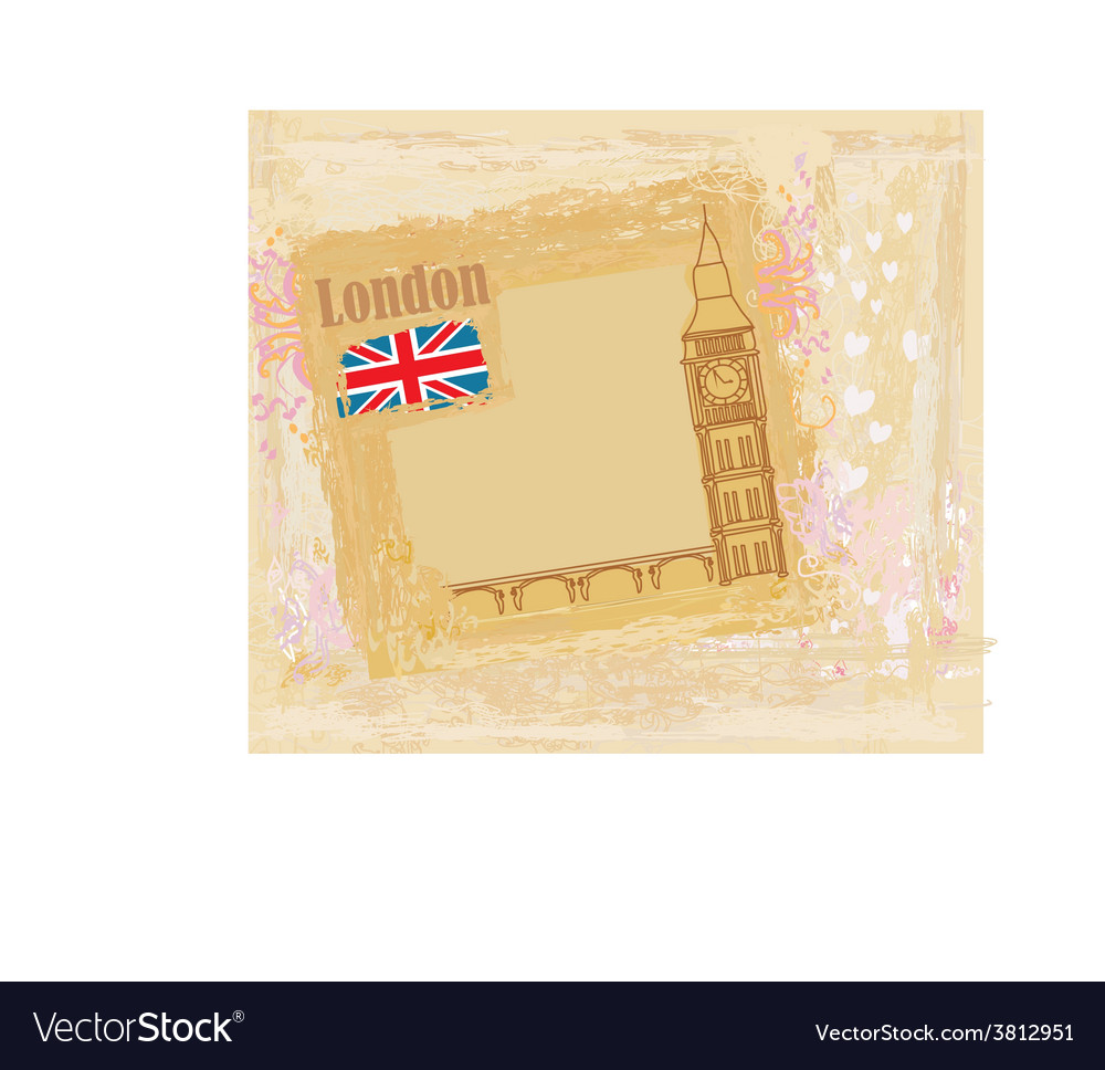 Grunge banner with london vector | Price: 1 Credit (USD $1)