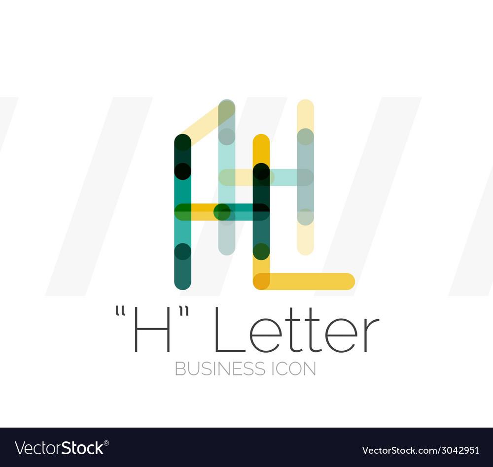 H letter logo minimal line design vector   Price: 1 Credit (USD $1)