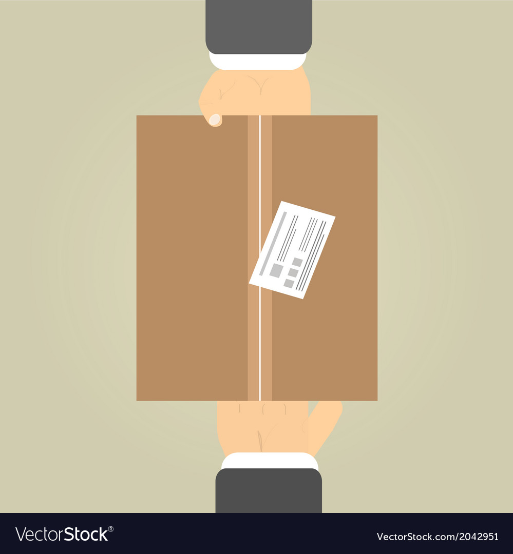 Hands to receive a parcel vector | Price: 1 Credit (USD $1)