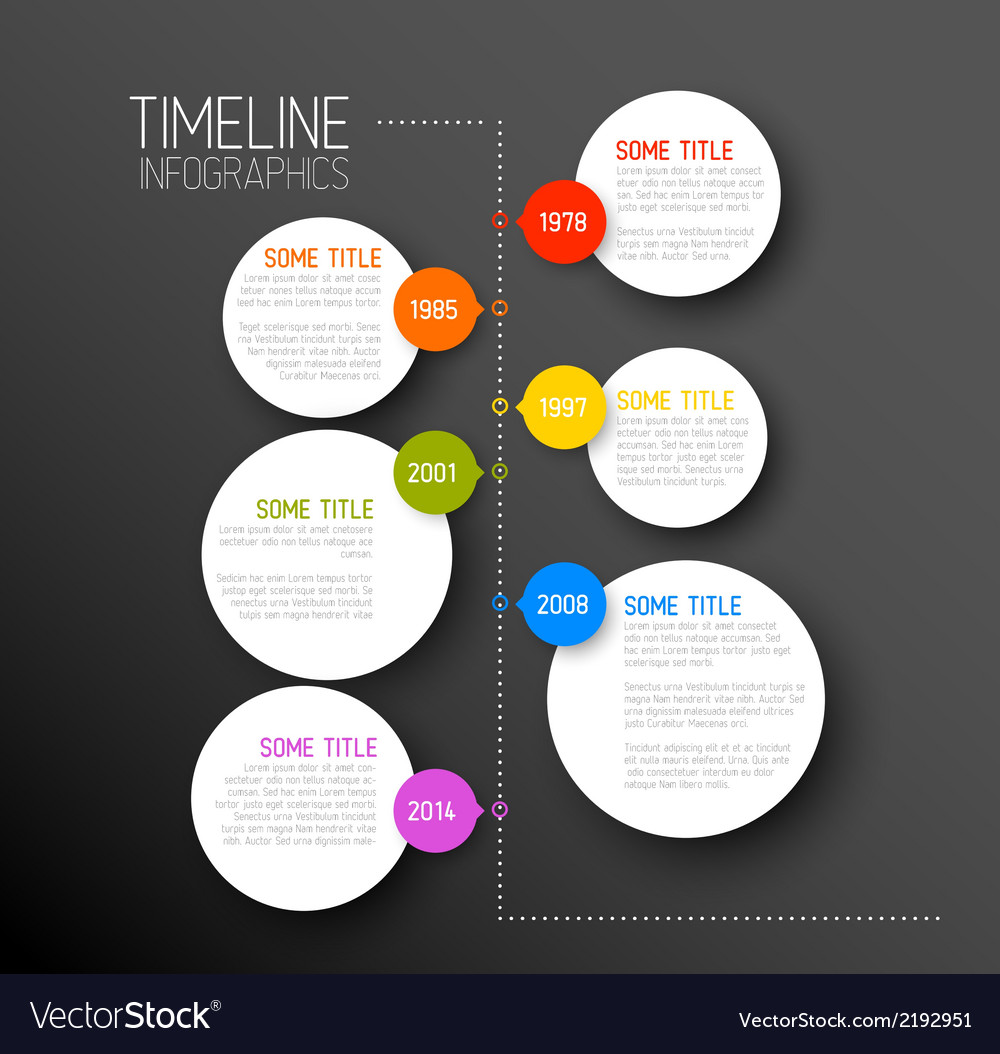 Infographic dark timeline report template vector | Price: 1 Credit (USD $1)