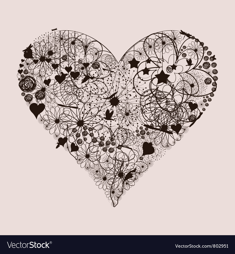 Natural heart2 vector | Price: 1 Credit (USD $1)
