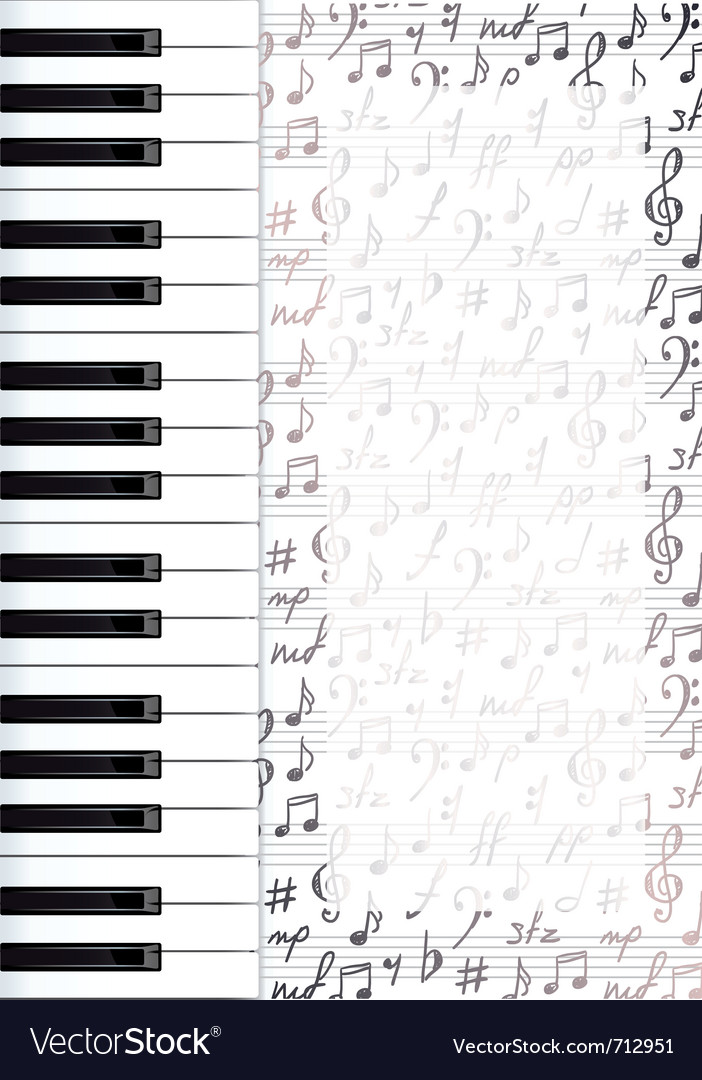Piano keys background vector | Price: 1 Credit (USD $1)