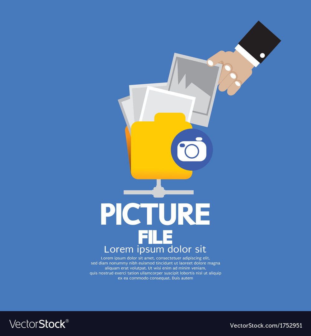 Picture file storage vector | Price: 1 Credit (USD $1)