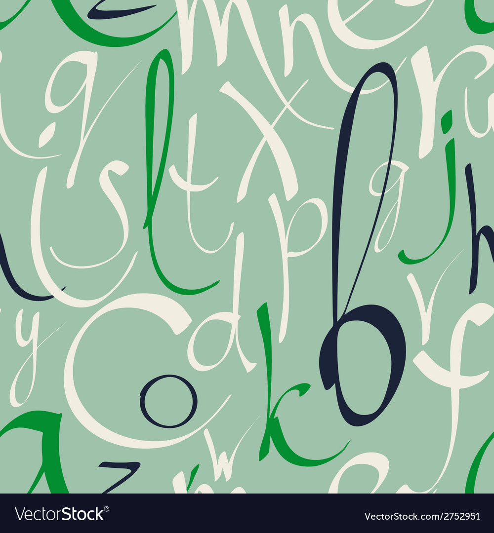 Seamless pattern with hand drawn alphabet vector | Price: 1 Credit (USD $1)