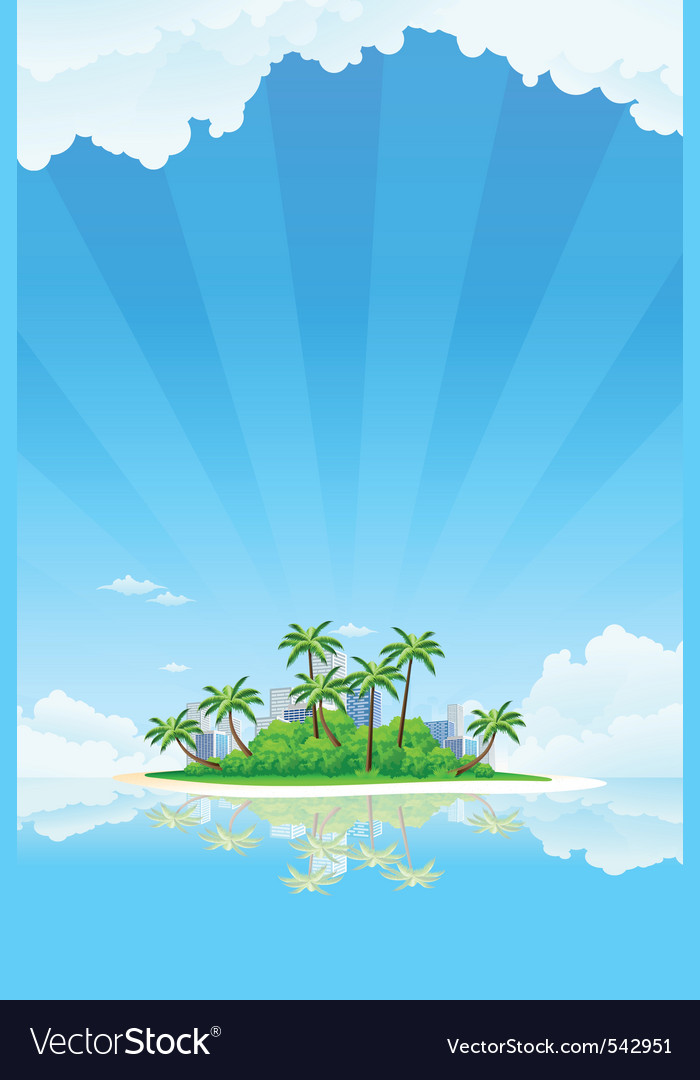 Tropical business landscape vector | Price: 3 Credit (USD $3)