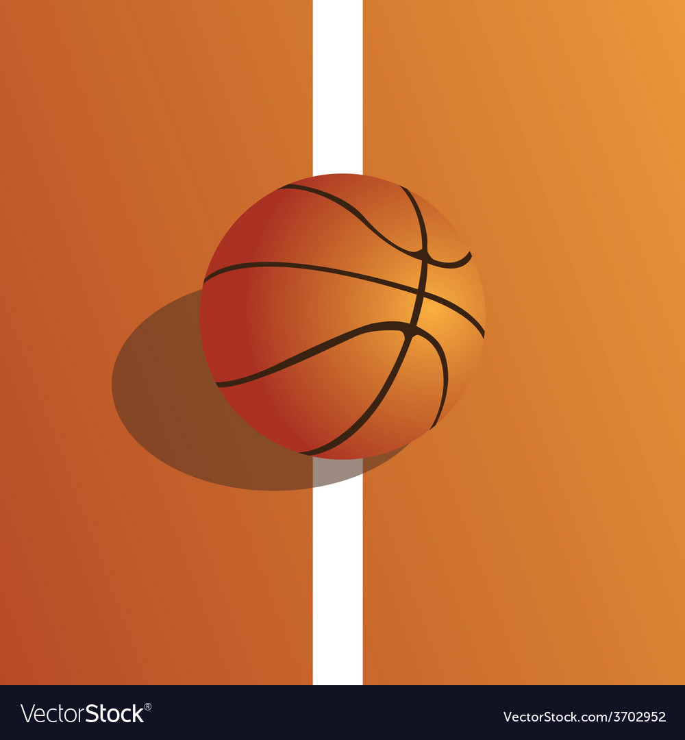 A colored background with a basketball ball on the vector | Price: 1 Credit (USD $1)