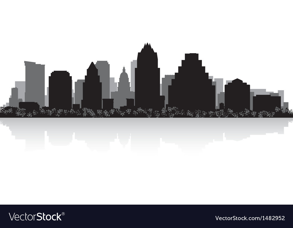 Austin usa city skyline silhouette vector | Price: 1 Credit (USD $1)