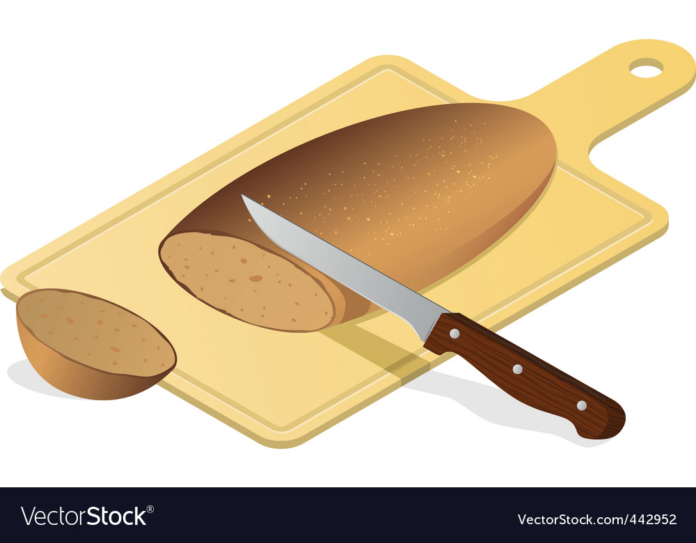 Bread board with knife vector | Price: 1 Credit (USD $1)