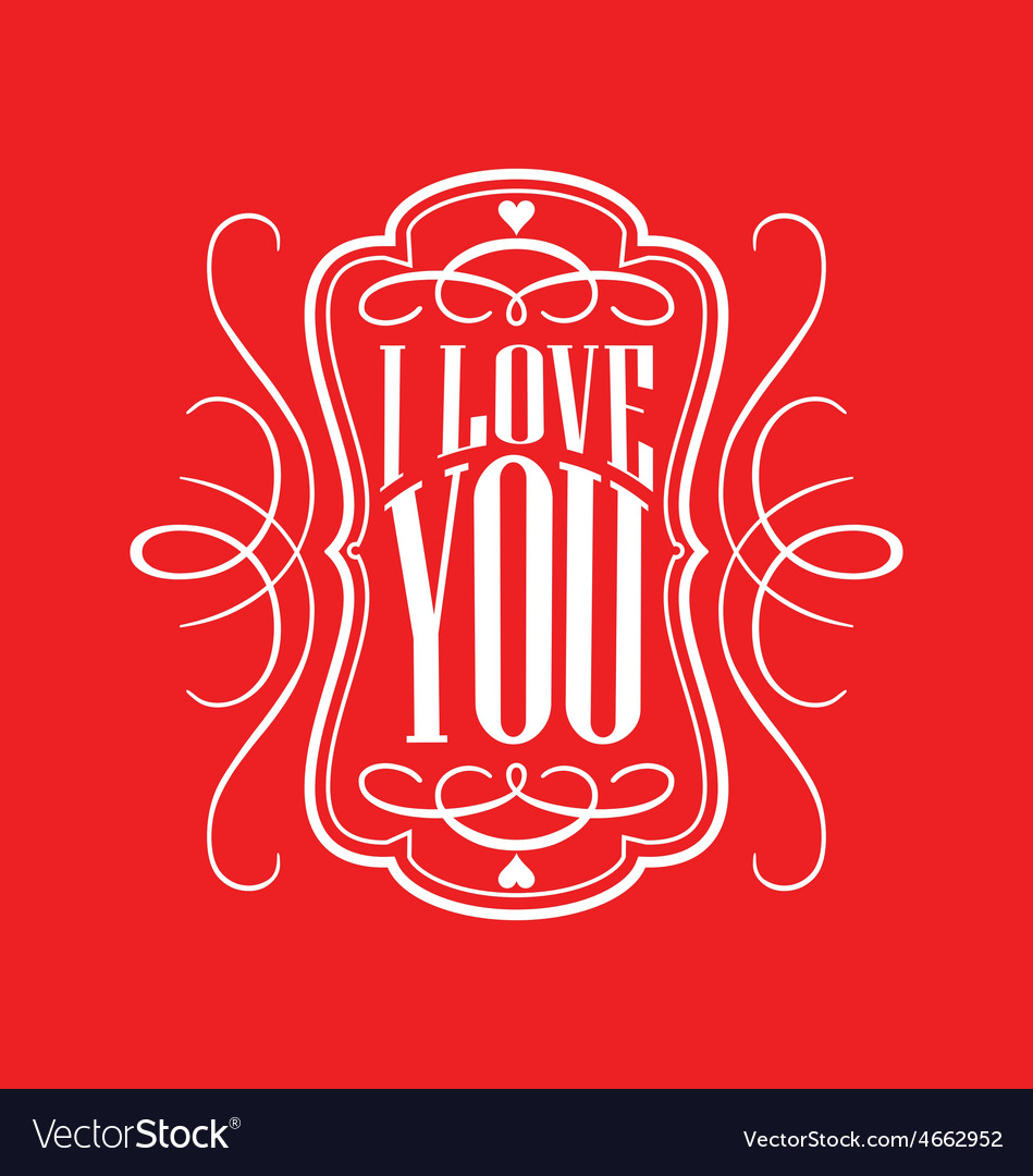 Decorative i love you calligraphy vector | Price: 1 Credit (USD $1)