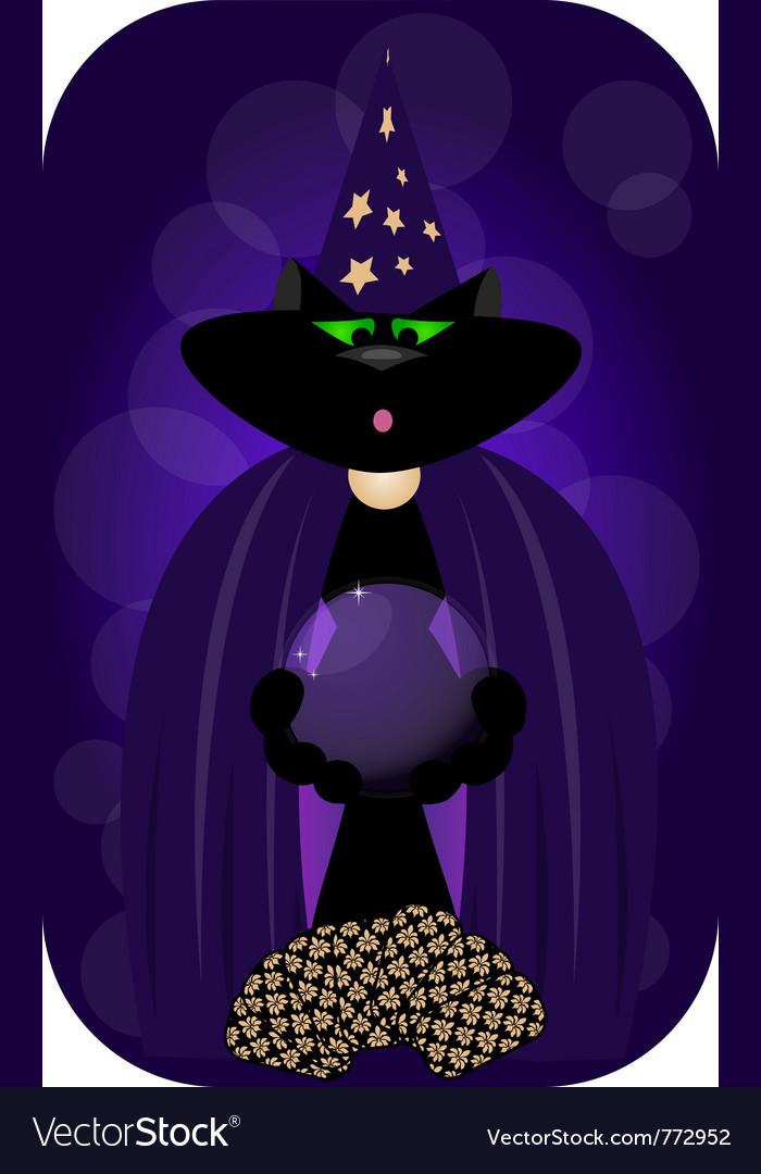 Magician cat vector | Price: 1 Credit (USD $1)