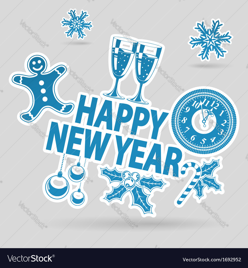 New year sticker vector | Price: 1 Credit (USD $1)