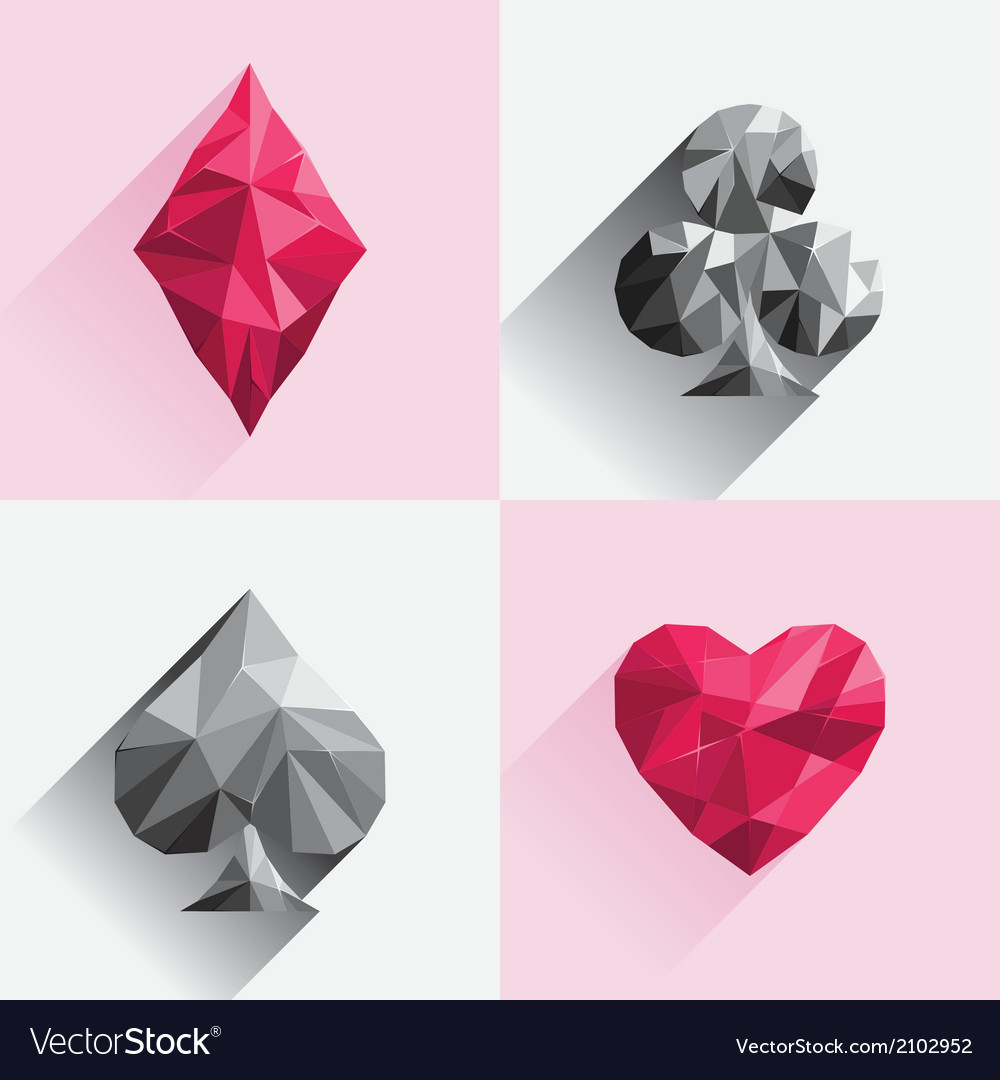 Playing card low poly style vector | Price: 1 Credit (USD $1)