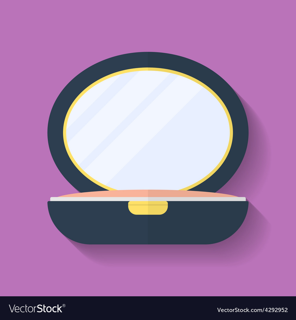 Powder box icon flat style vector | Price: 1 Credit (USD $1)