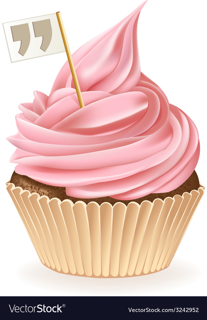 Quotes cupcake vector | Price: 3 Credit (USD $3)