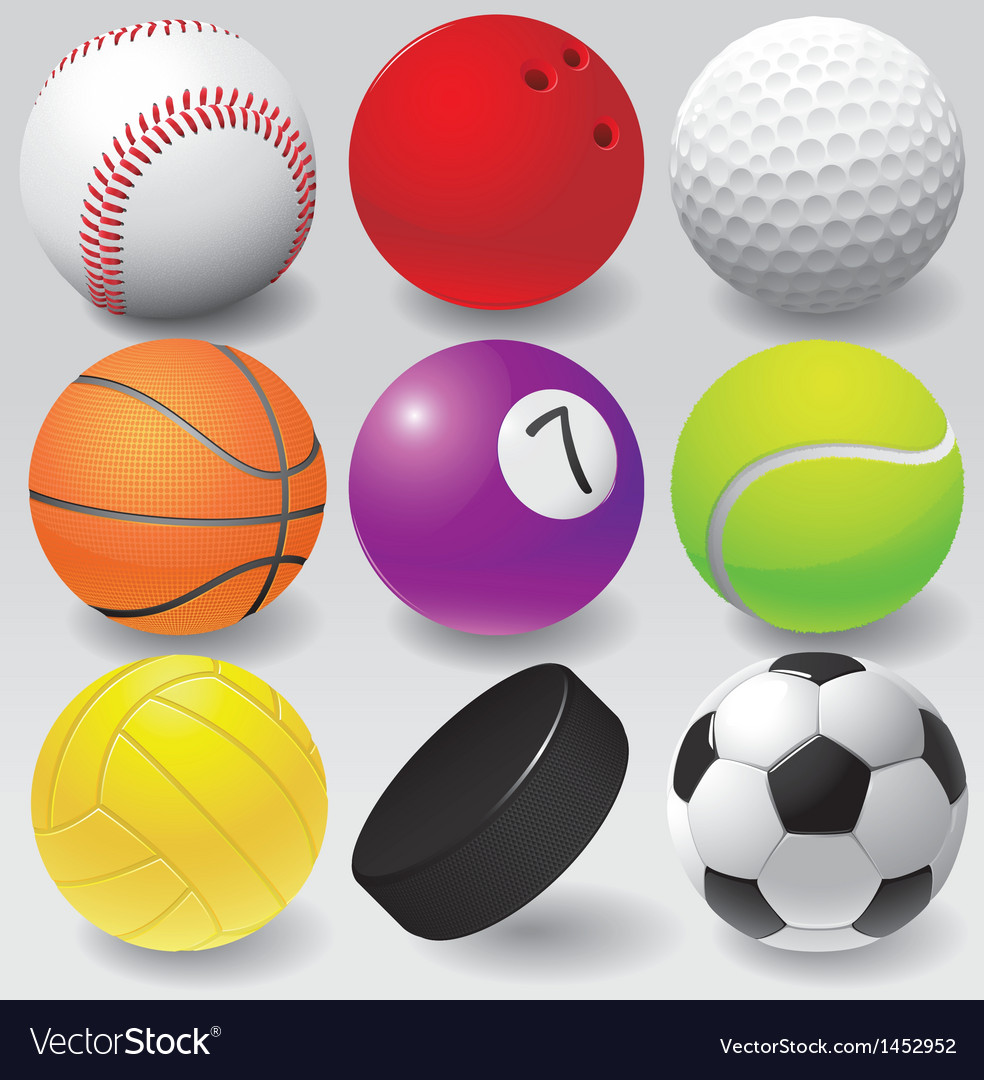 Sport balls eps 8 vector | Price: 1 Credit (USD $1)