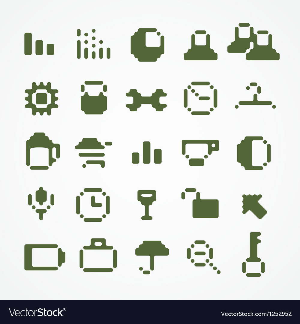 Tablet buttons collection isolated on wh vector | Price: 1 Credit (USD $1)