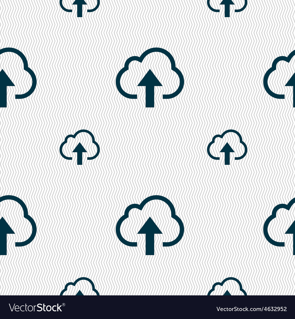 Upload from cloud icon sign seamless pattern with vector | Price: 1 Credit (USD $1)