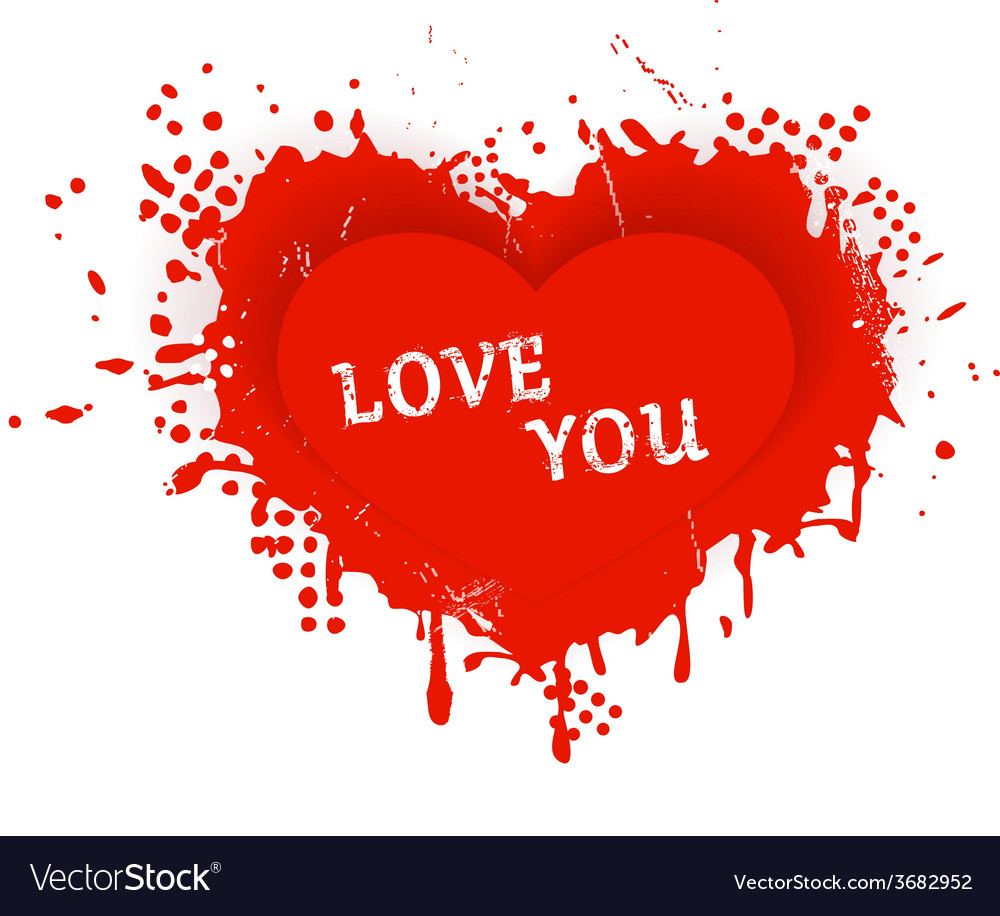 Valentines heart love you vector