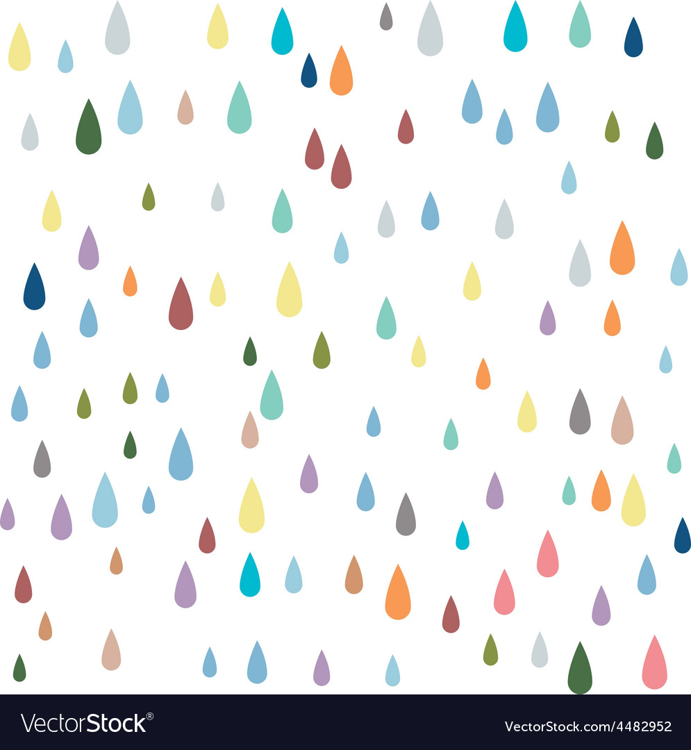 Water seamless pattern paint drops seamless patter vector | Price: 1 Credit (USD $1)