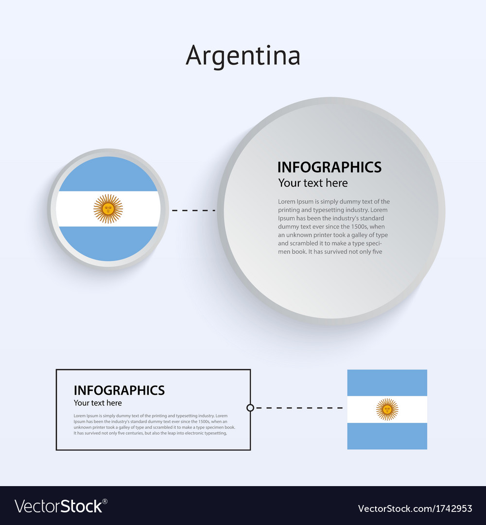 Argentina country set of banners vector | Price: 1 Credit (USD $1)