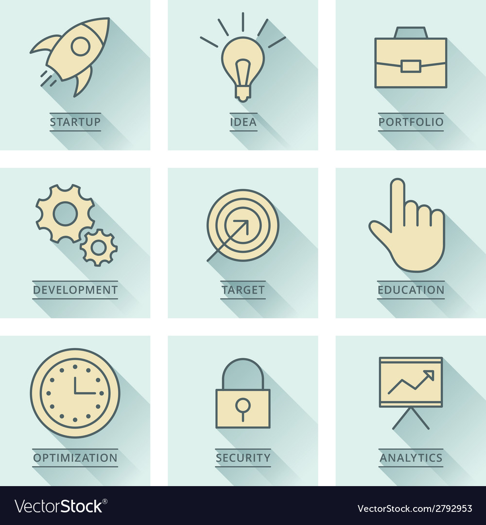 Business infographics icons development and vector | Price: 1 Credit (USD $1)