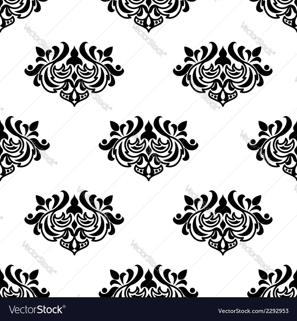 Decorative seamless floral pattern vector | Price: 1 Credit (USD $1)