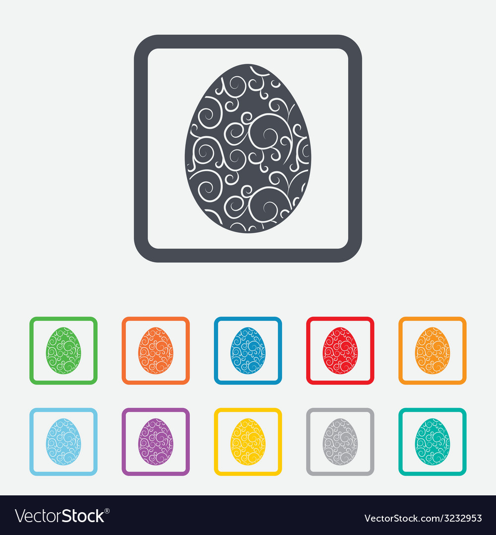 Easter egg sign icon easter tradition symbol vector | Price: 1 Credit (USD $1)