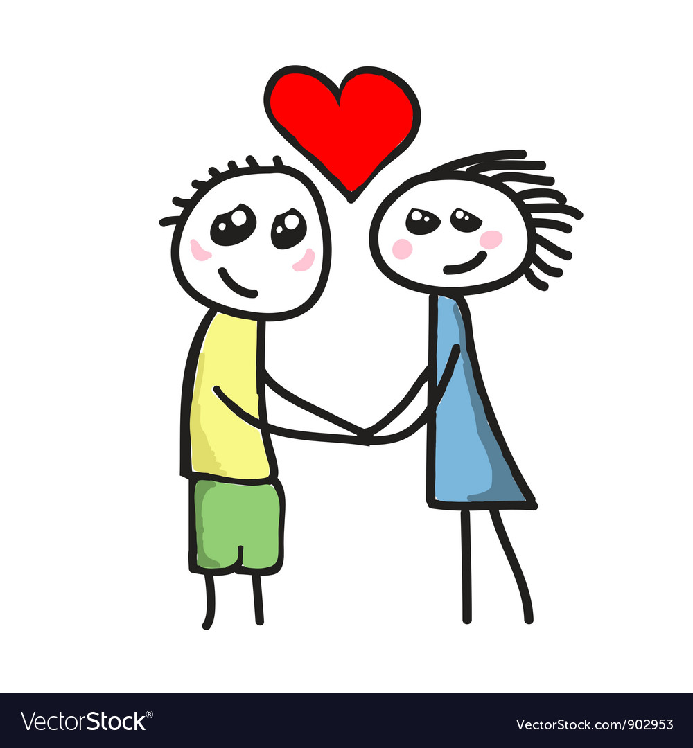 Love between boy and girl vector | Price: 1 Credit (USD $1)
