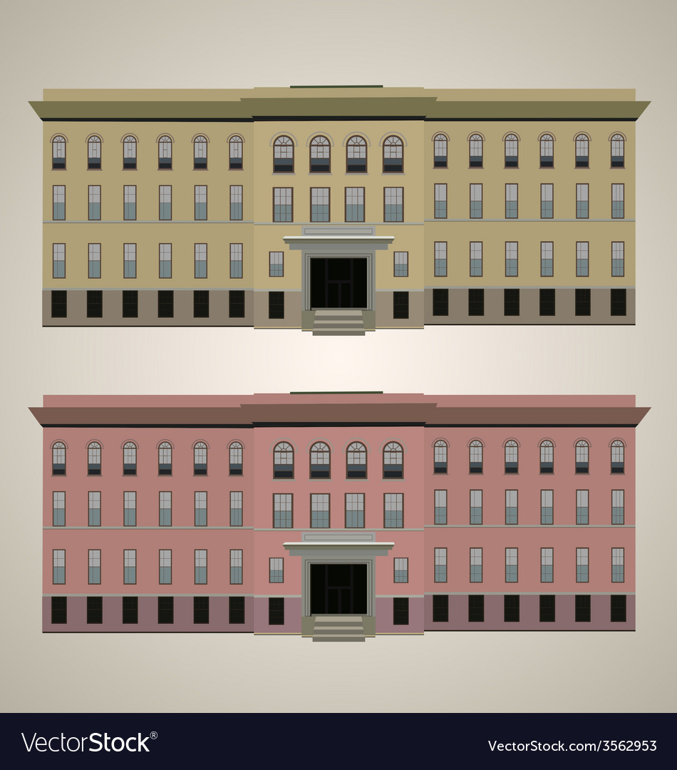 Modern building 1 vector | Price: 1 Credit (USD $1)
