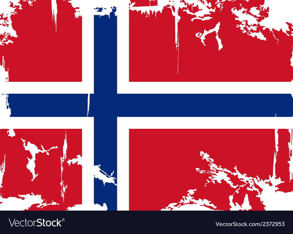 Norwegian grunge flag vector | Price: 1 Credit (USD $1)