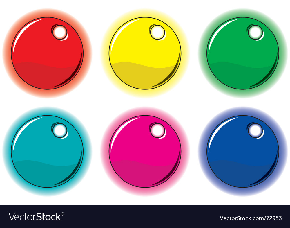 Set of colored circle labels vector | Price: 1 Credit (USD $1)