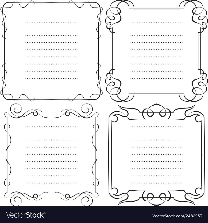Set of frames menu vector | Price: 1 Credit (USD $1)