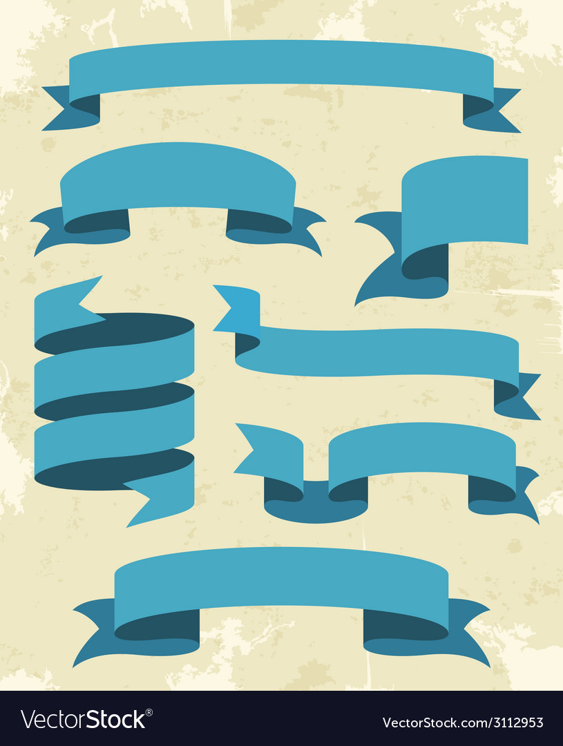 Set of vintage ribbons background vector   Price: 1 Credit (USD $1)