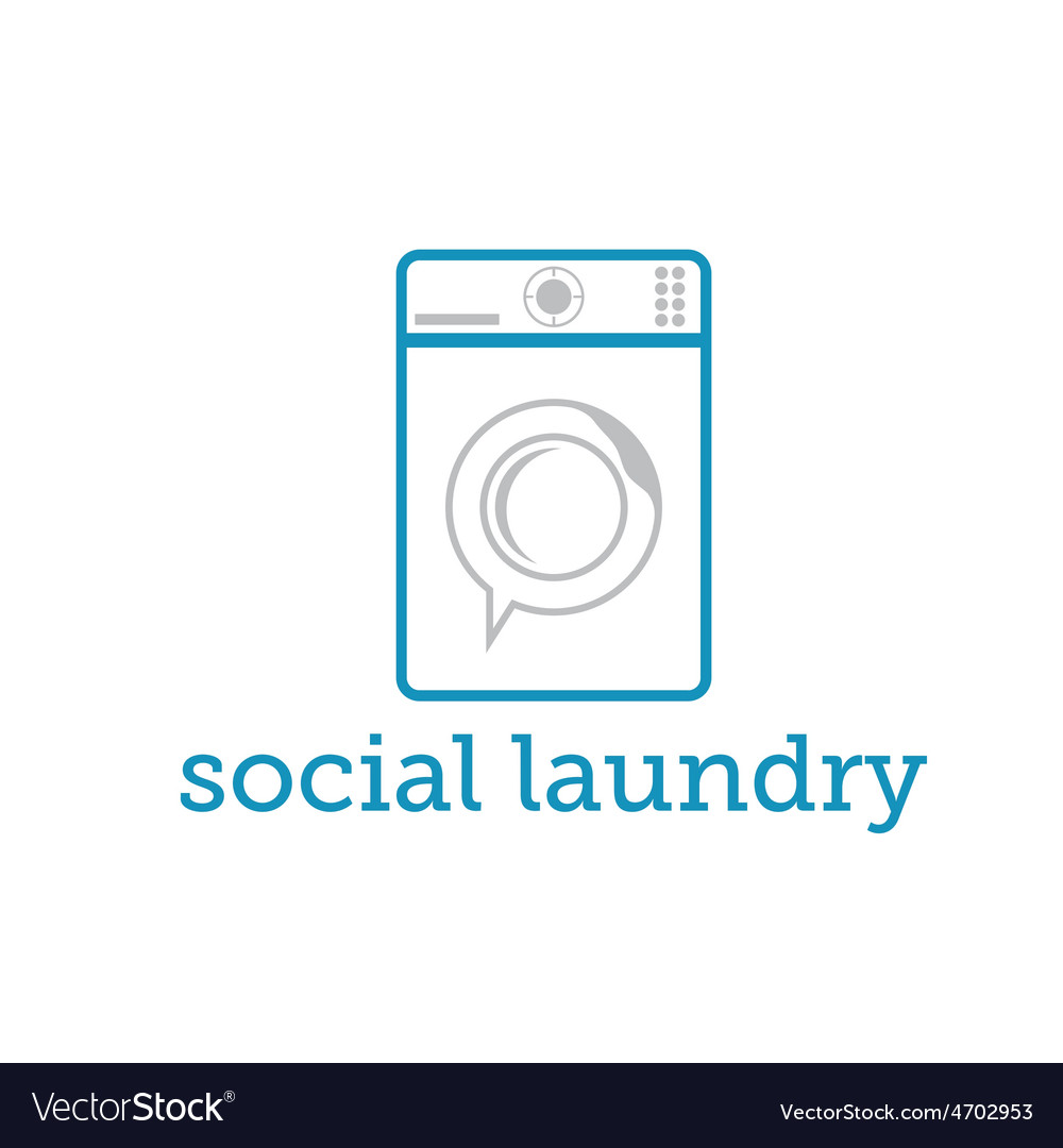 Social laundry concept with washing machine vector | Price: 1 Credit (USD $1)