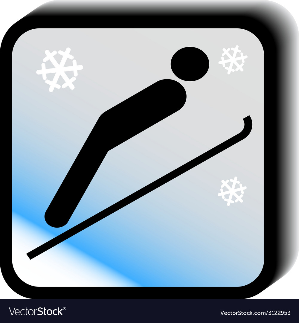 Winter icon -jumps vector | Price: 1 Credit (USD $1)