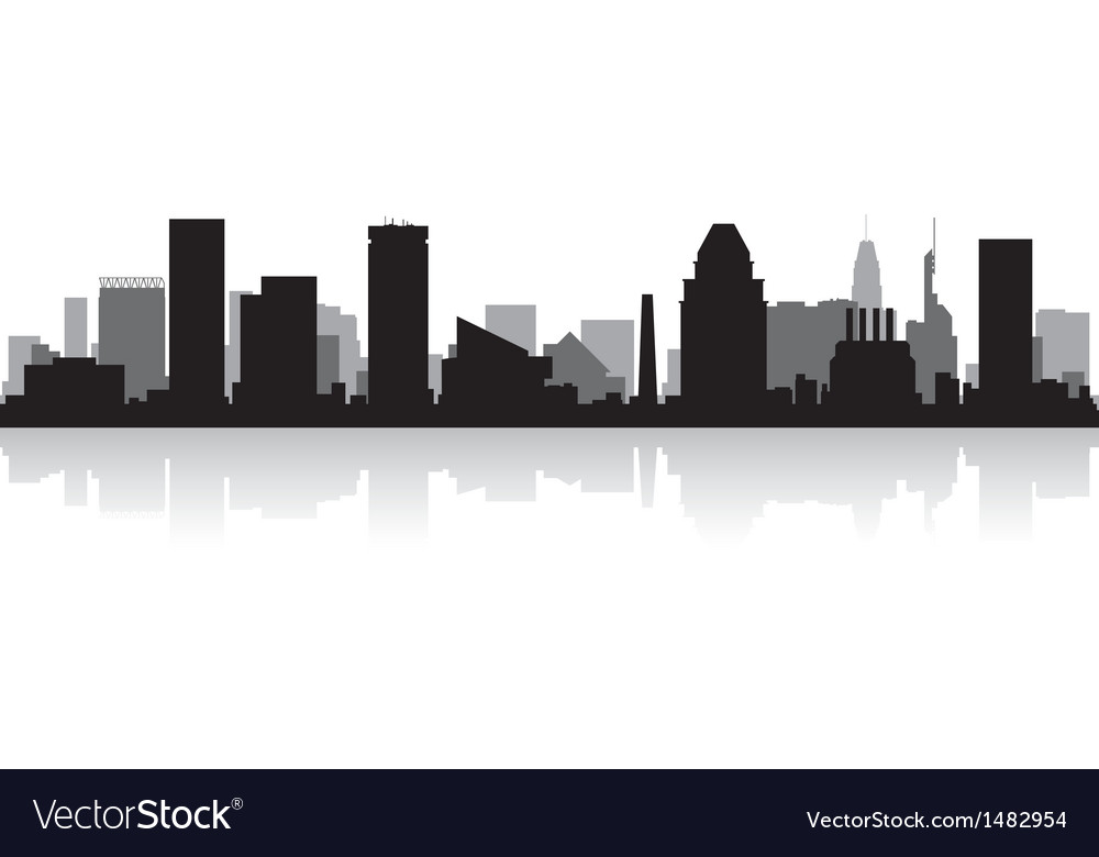 Baltimore usa city skyline silhouette vector | Price: 1 Credit (USD $1)