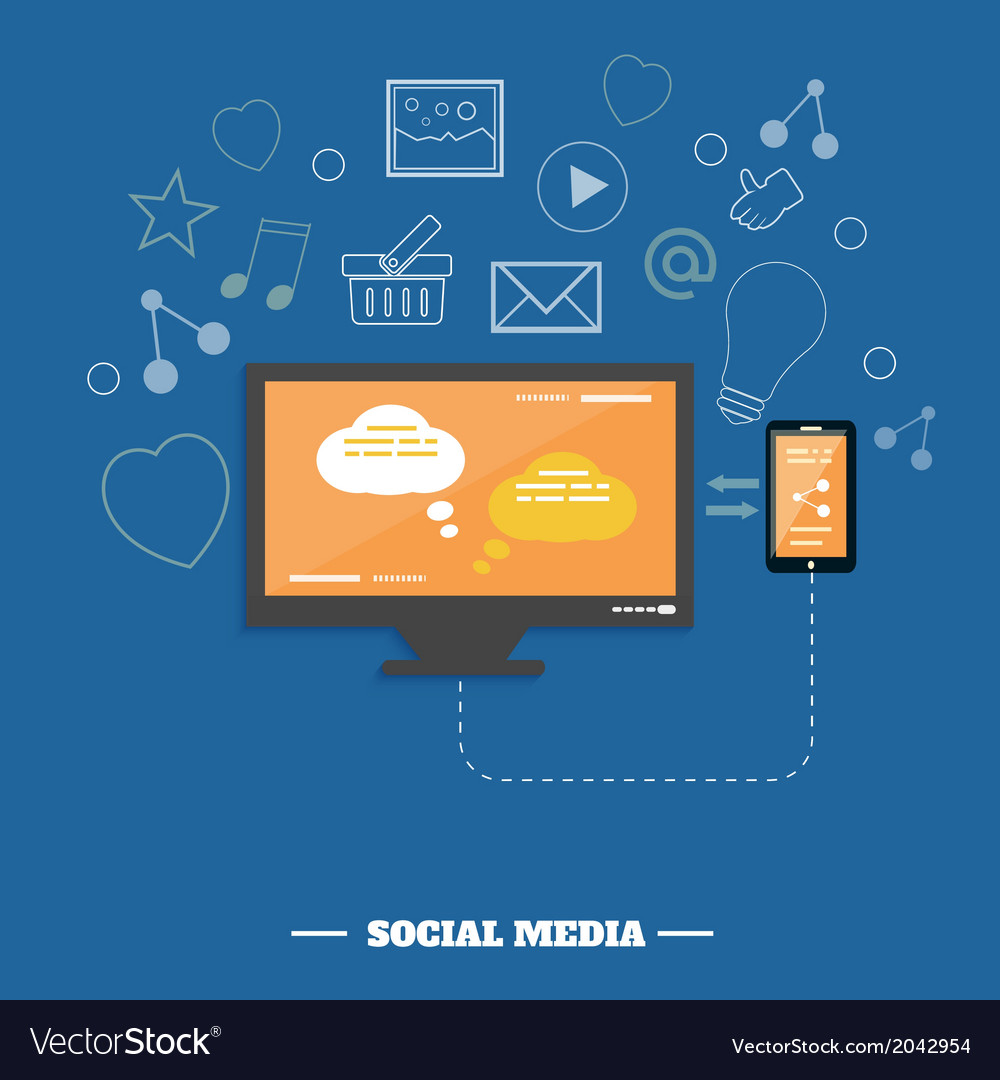 Business software and social media networking vector | Price: 1 Credit (USD $1)