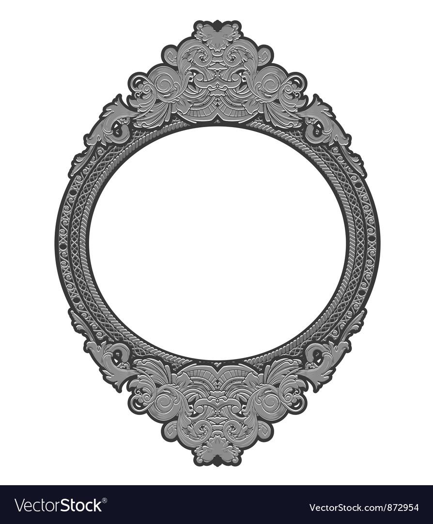 Engraved floral frame vector | Price: 1 Credit (USD $1)