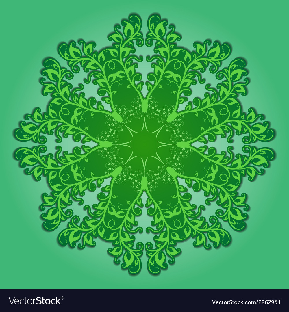 Filigree pattern on green vector | Price: 1 Credit (USD $1)