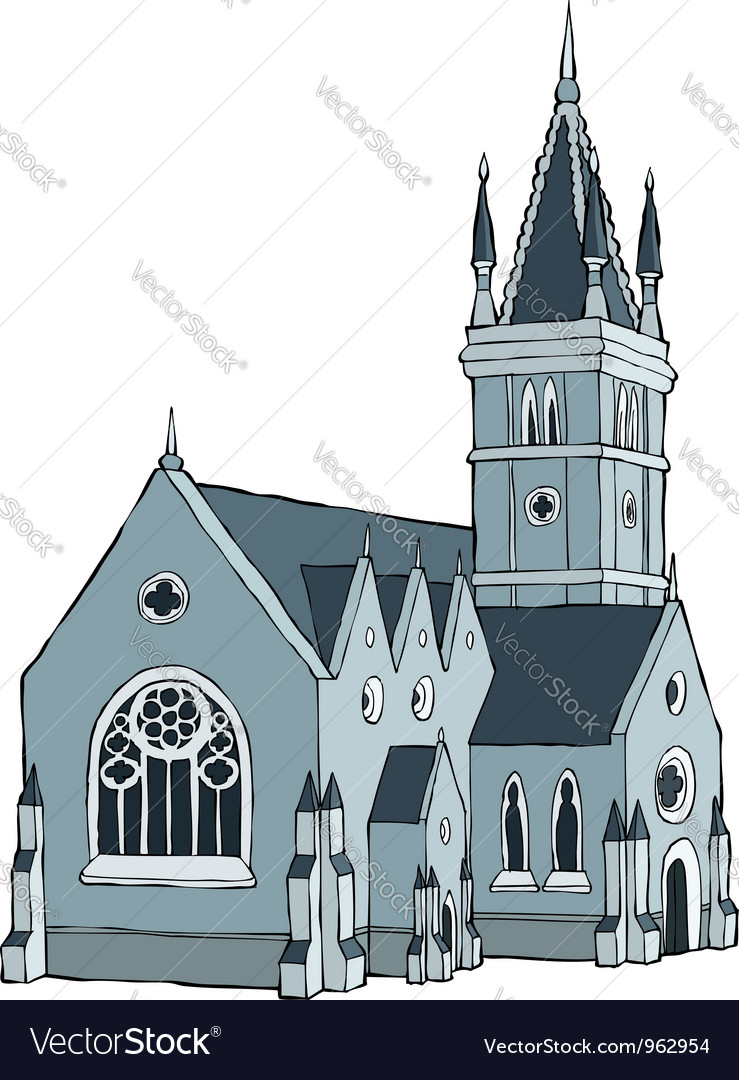 Gothic building vector | Price: 1 Credit (USD $1)