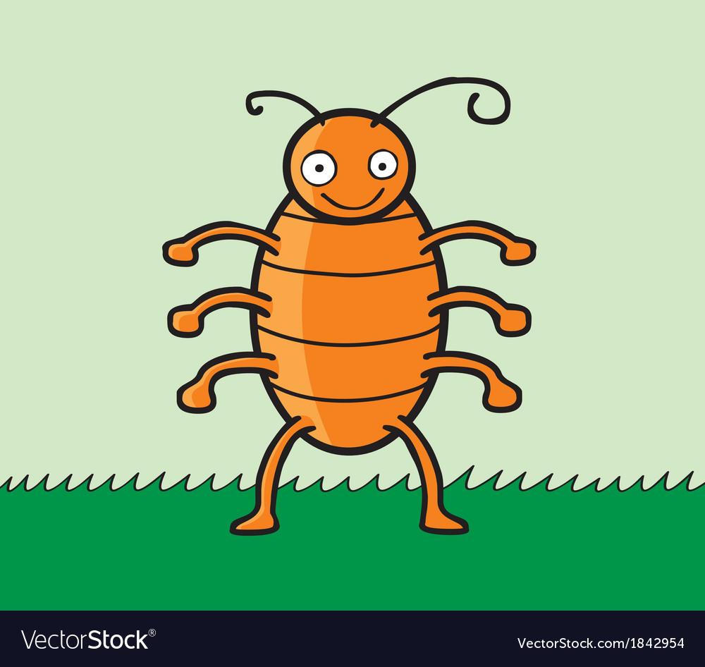 Happy cockroach cartoon vector | Price: 1 Credit (USD $1)