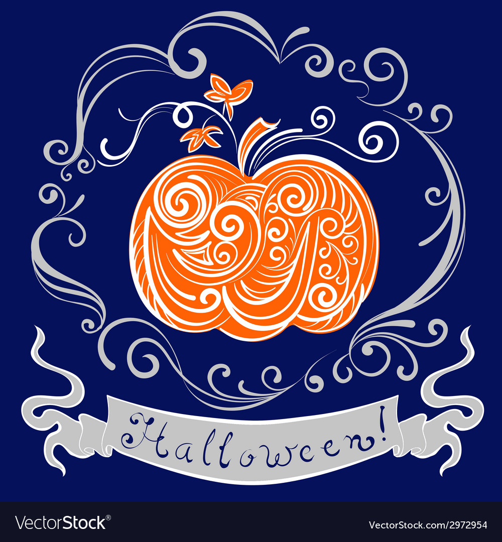 Lace pumpkin for hallowmas vector | Price: 1 Credit (USD $1)