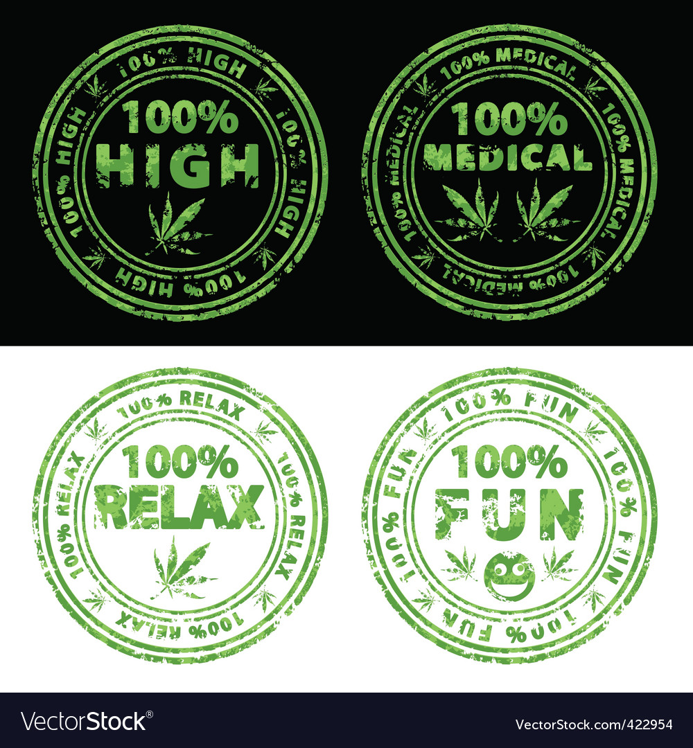 Marijuana stamps vector | Price: 1 Credit (USD $1)